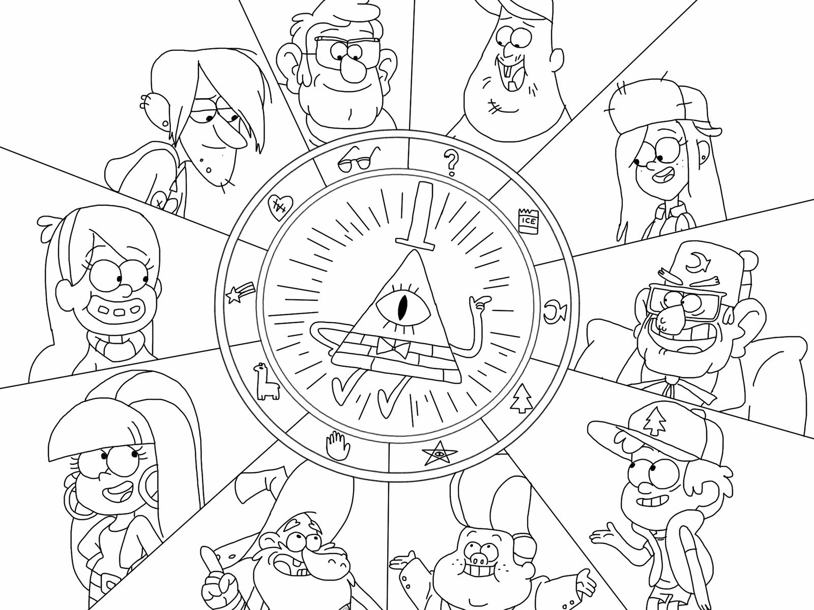 Bill cipher coloring pages ~ Bill Cipher Gravity Falls Coloring Pages Coloring Pages
