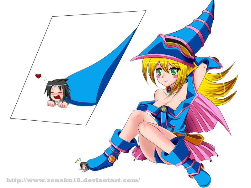 C- Dark magician girl and Bane by ZA-18