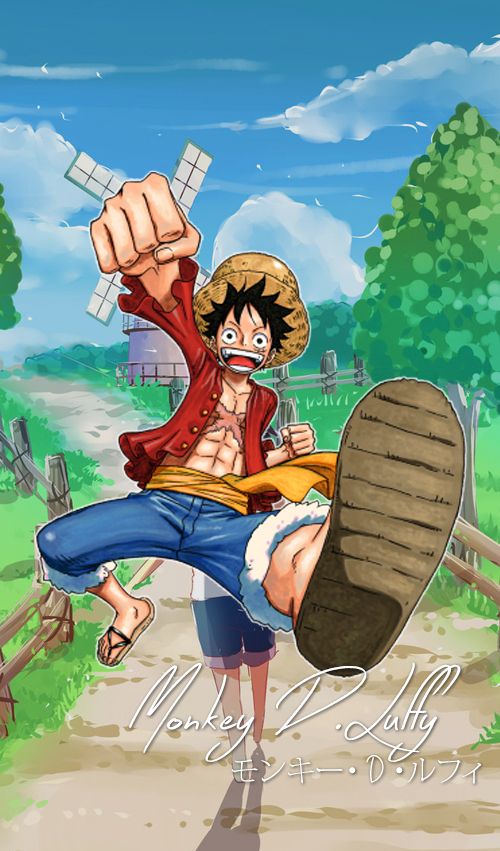 One Piece Mobile Wallpaper: Luffy by Luffy-ThePirateKing