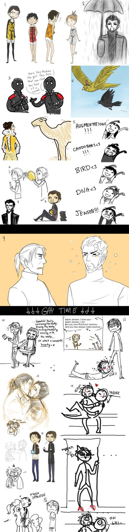Deus Ex doodle dump by JJ-Power