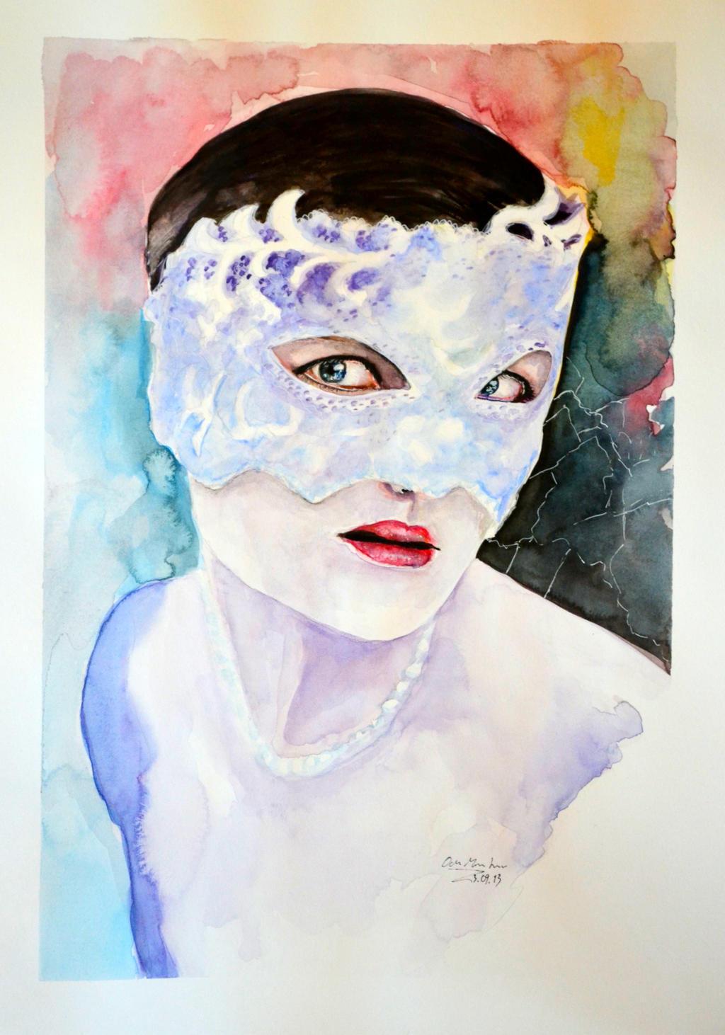 Hidden behind a mask by odamargrethe