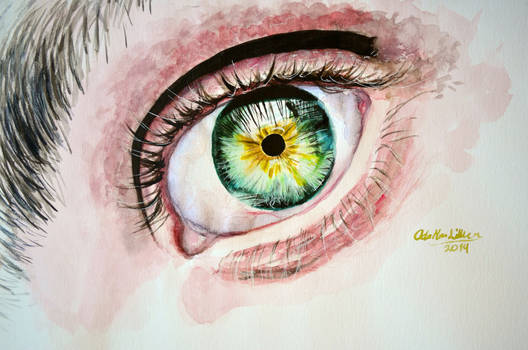 Realistic eye - watercolor