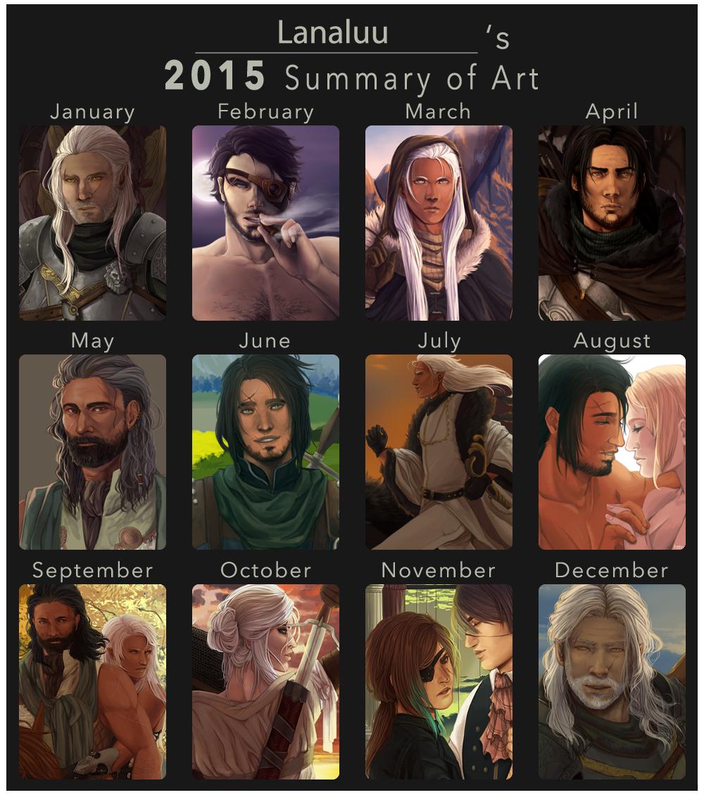 2015 Summary of Art by Lanaluu