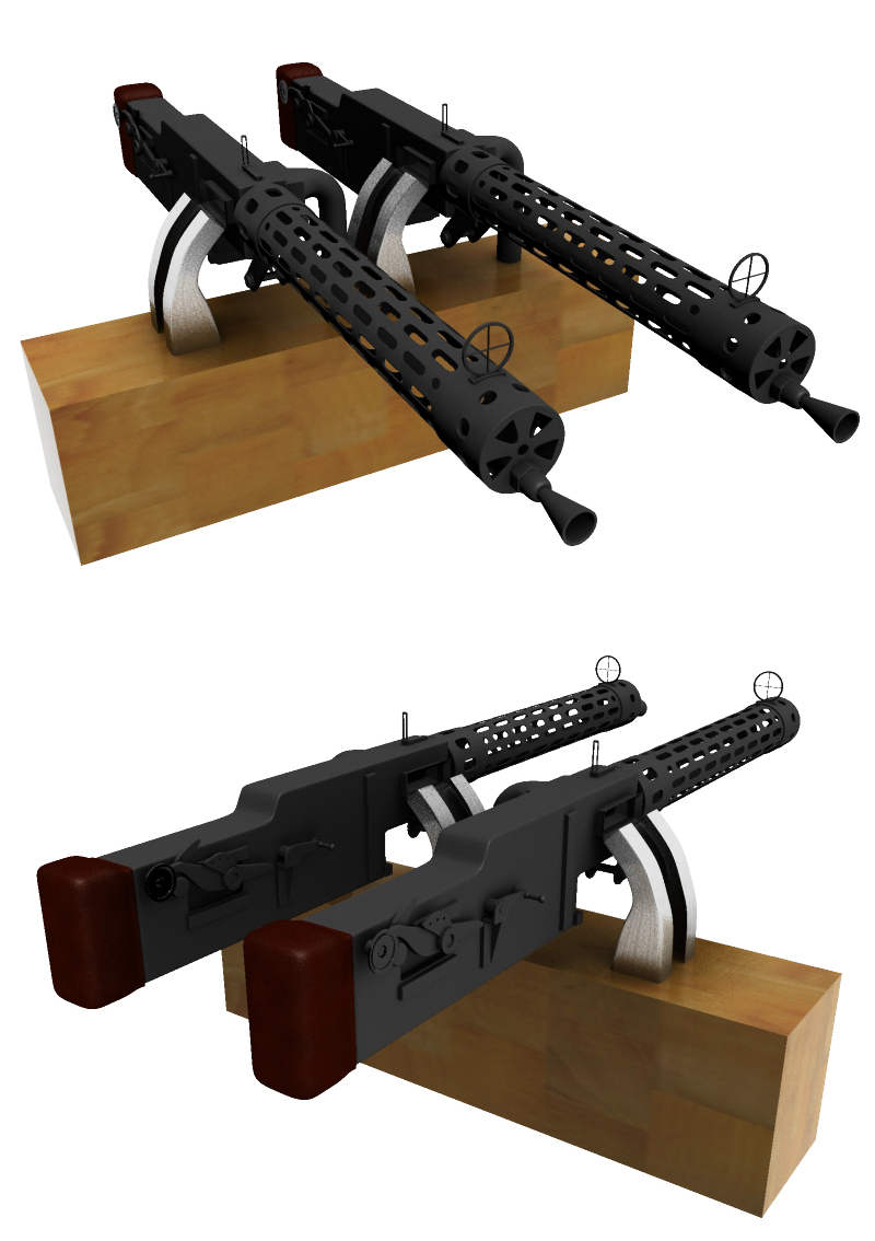 spandau machine guns