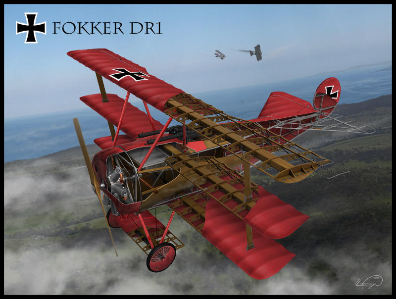Fokker DR 1 Cut-away