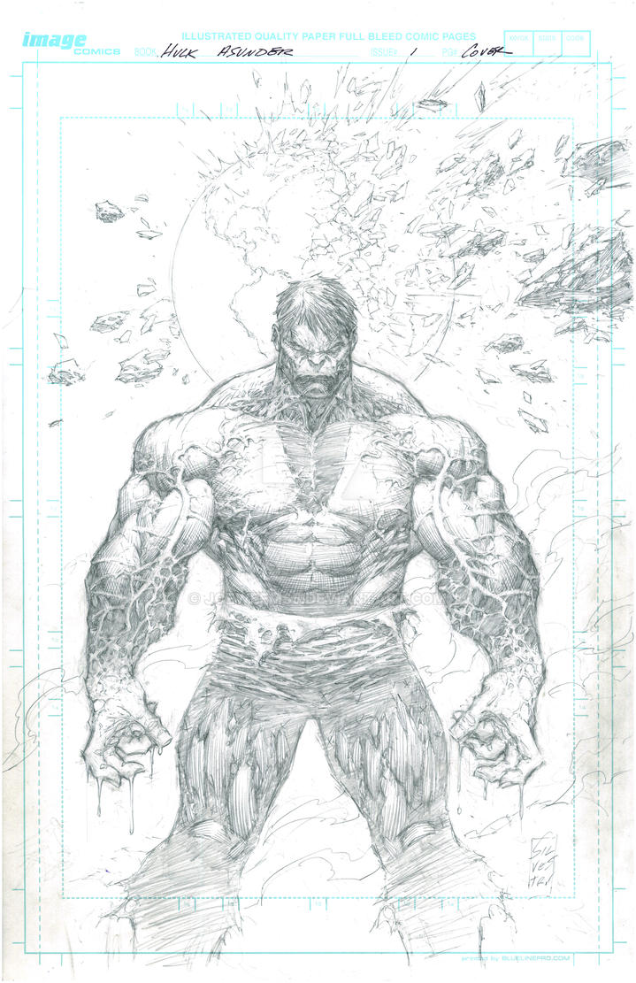 Hulk: Asunder _1 CVR_Pencil by JoeWeems5