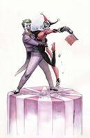 Joker and Harley cake topper by ChrisMoreno