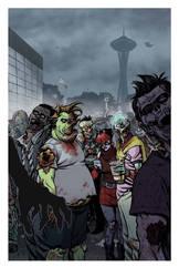 Zombie Dickheads ZomBcon print by ChrisMoreno