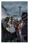 Zombie Dickheads ZomBcon print