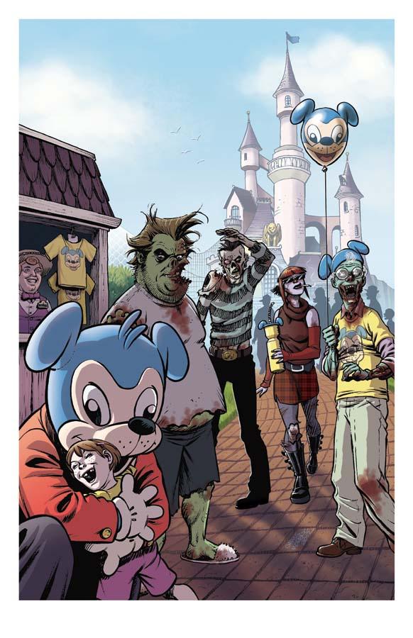 Zombie Dickheads Wondercon Print final by ChrisMoreno