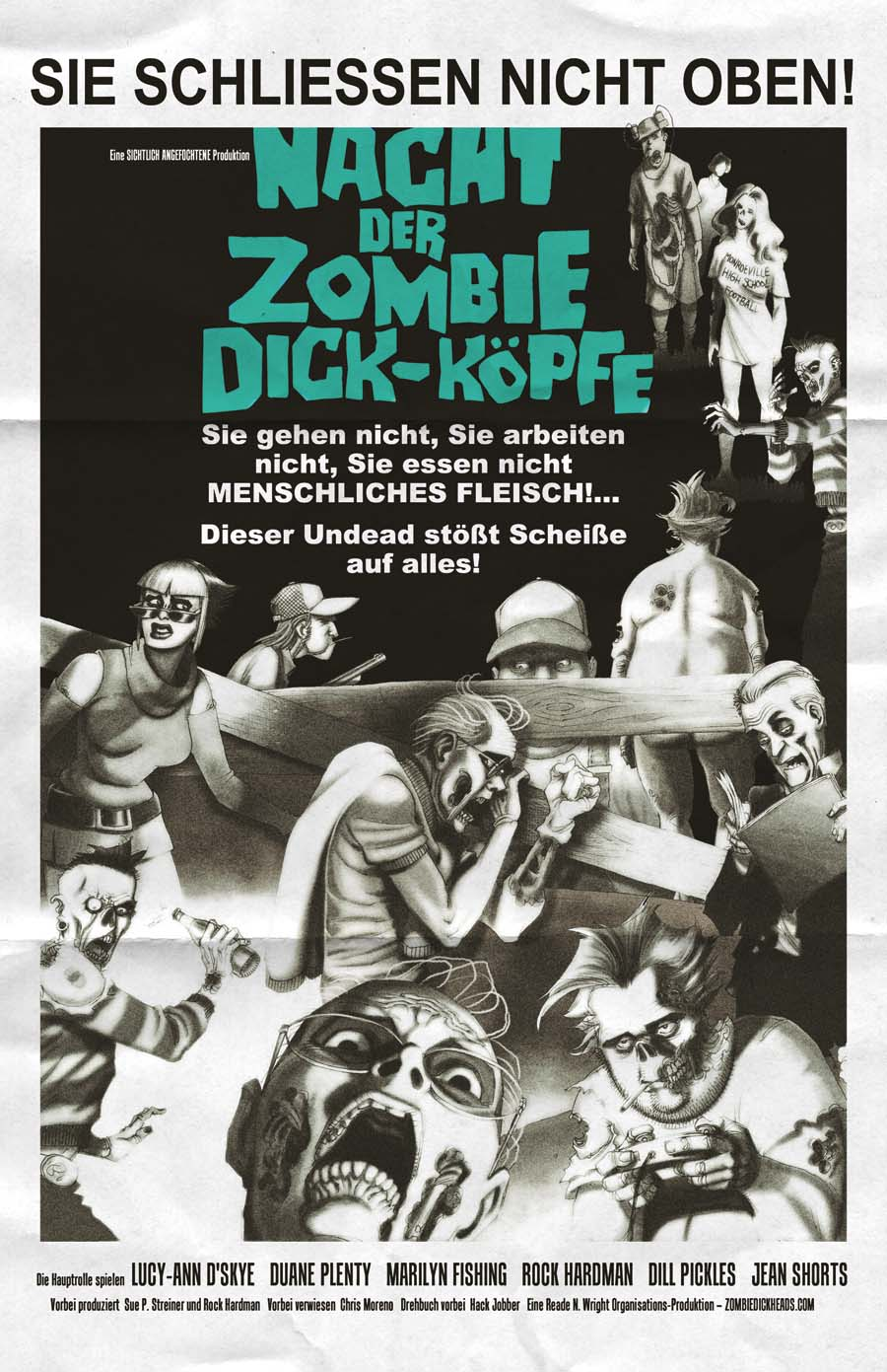 Night of the Zombie Dickheads poster