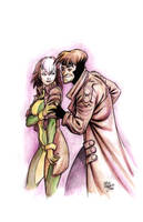 Rogue and Gambit by ChrisMoreno