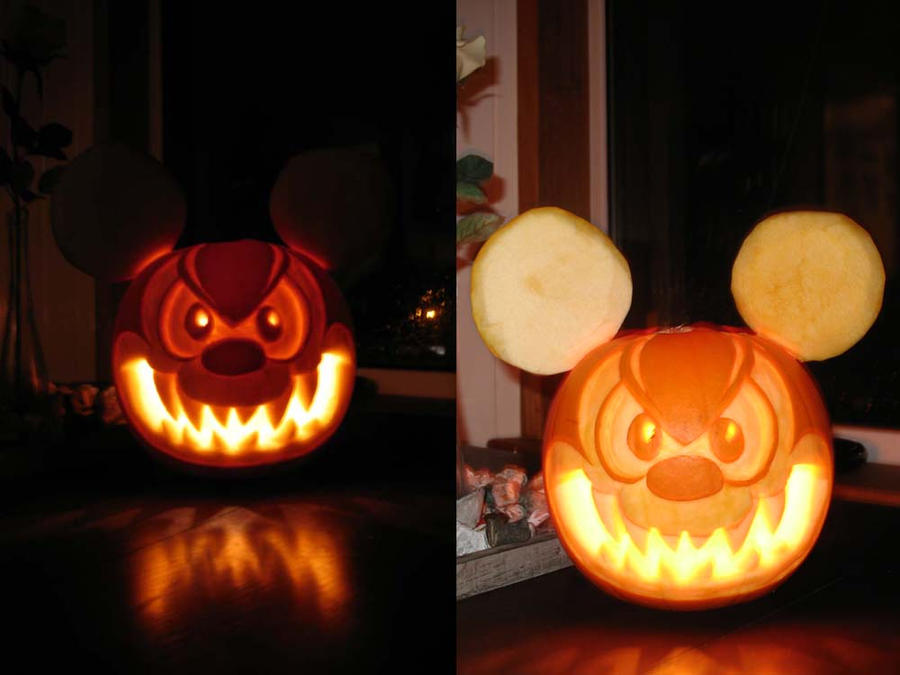 Evil mickey mouse by crazyjazzer on deviantart for How to paint a mickey mouse pumpkin