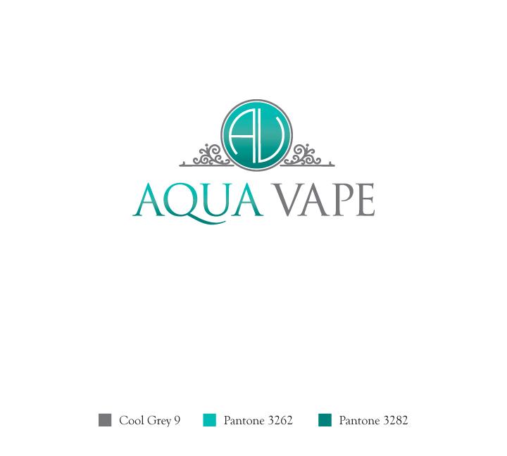 Aqua Vape logo design (3-color) by janhalili