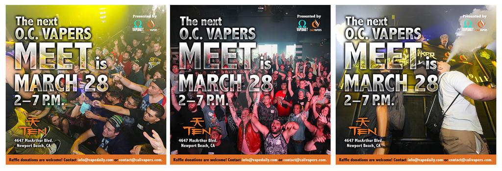 O.C. Vape Meet flyers by janhalili