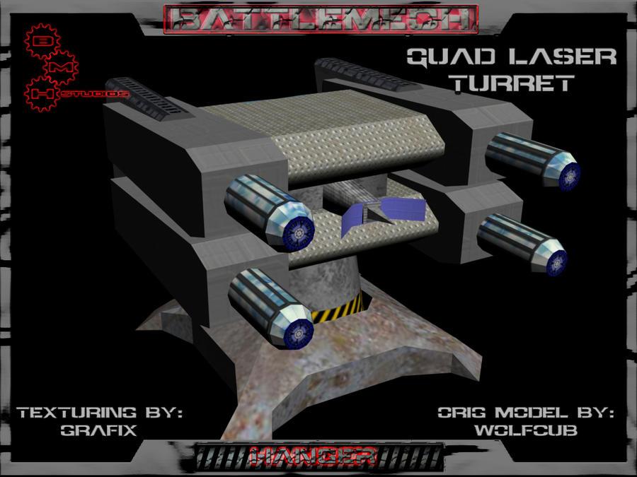 3D Quad Laser Turret Pic 03 by Grafix71