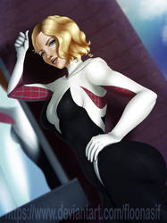 Gwen Stacy spiderverse by FlooNasif