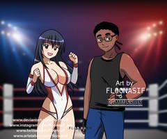 Sakura y Myles commission