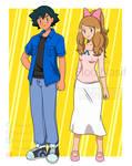 Ash y serena adultos, commission