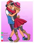 Satoshi y Serena kiss