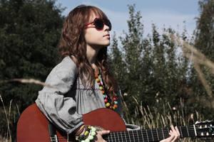 hippie girl. by coke-girl