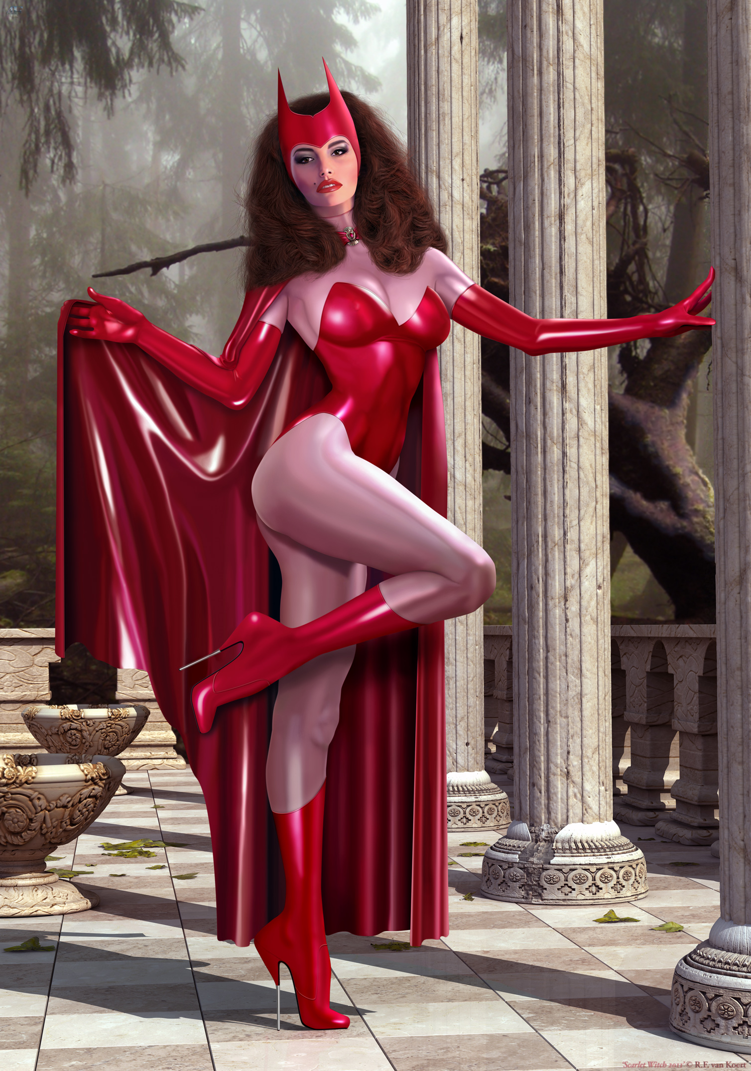 Scarlet Witch 2011 by Rick-4F