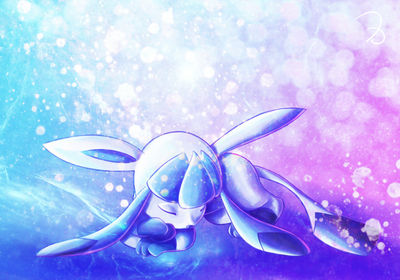 Sleeping Glaceon