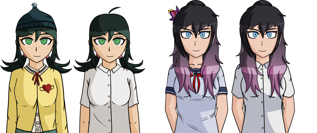 Ashley and Claire - Daily/School clothes by smilewolfy