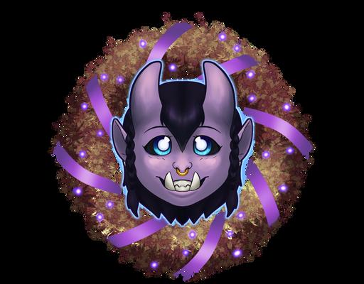 [Testing Stuff] Wreath Icon - Orc Lady