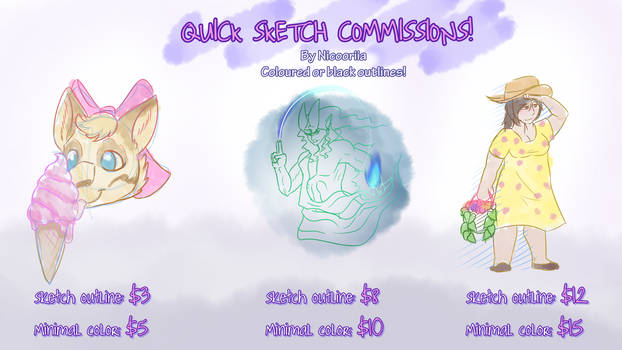 [OPEN!!!!] Quick Sketch Commission sheet