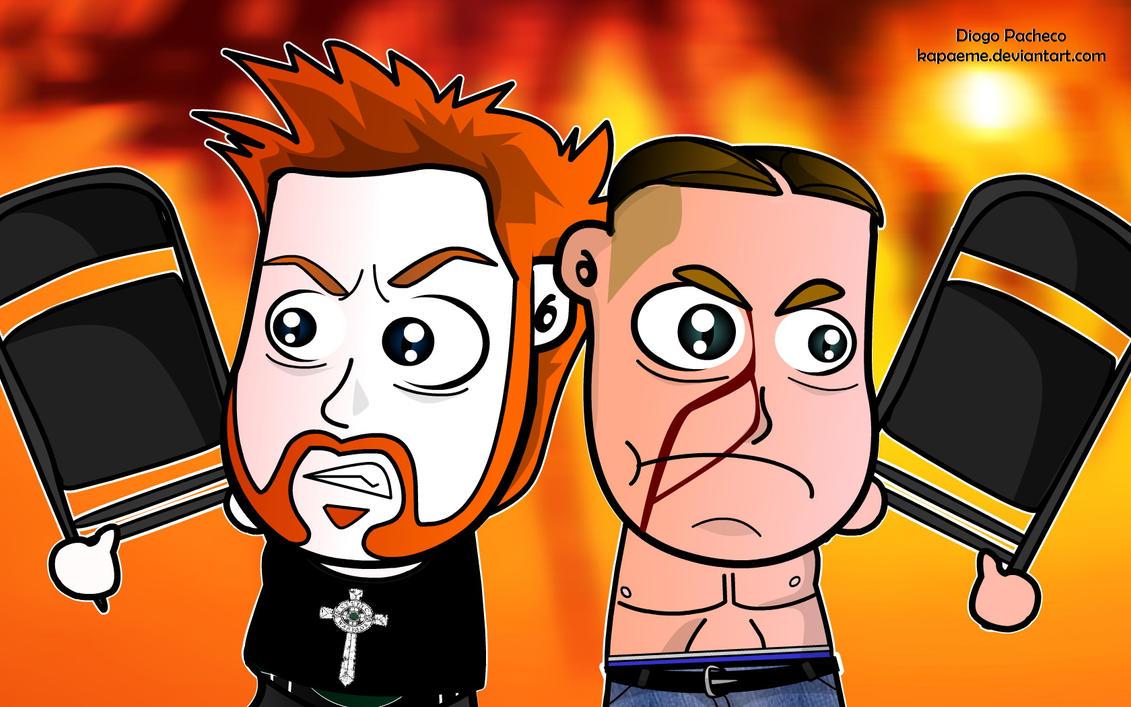 Sheamus and John Cena by kapaeme