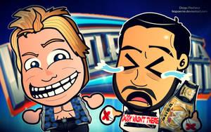 WM28 - CM Punk x Chris Jericho Wallpaper by kapaeme