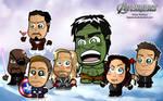 The Avengers Chibi Wallpaper