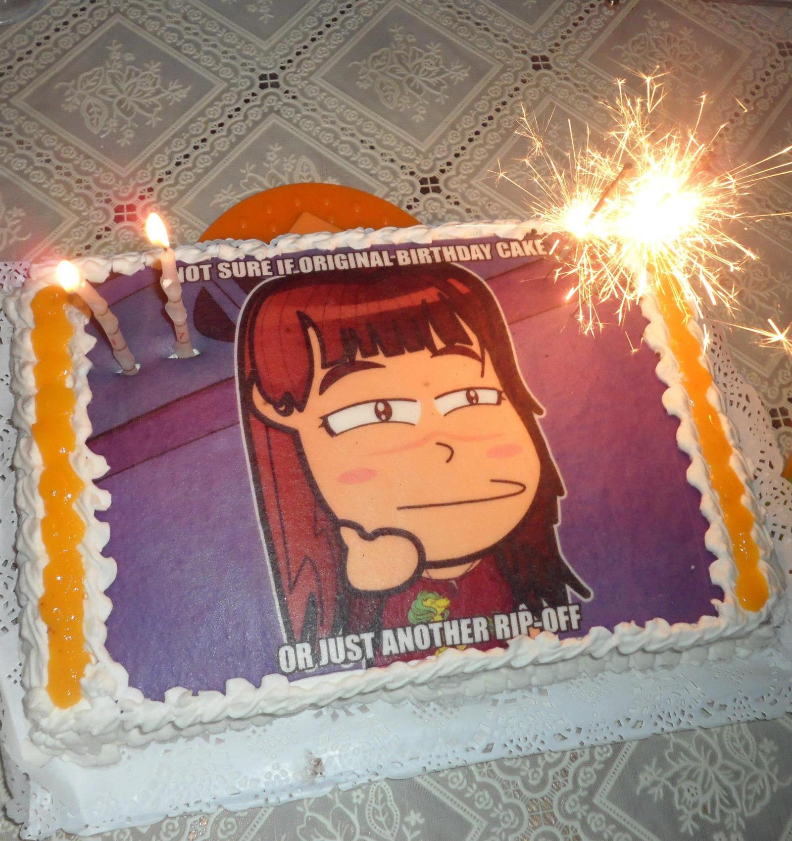 Chibi Happy Birthday Cake