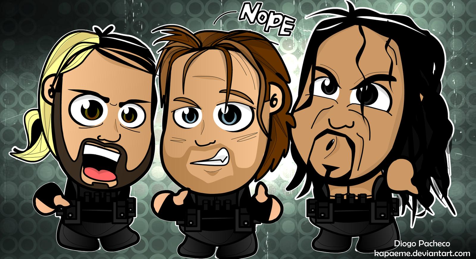 Seth Rollins, Dean Ambrose, Roman Reigns Wallpaper by kapaeme