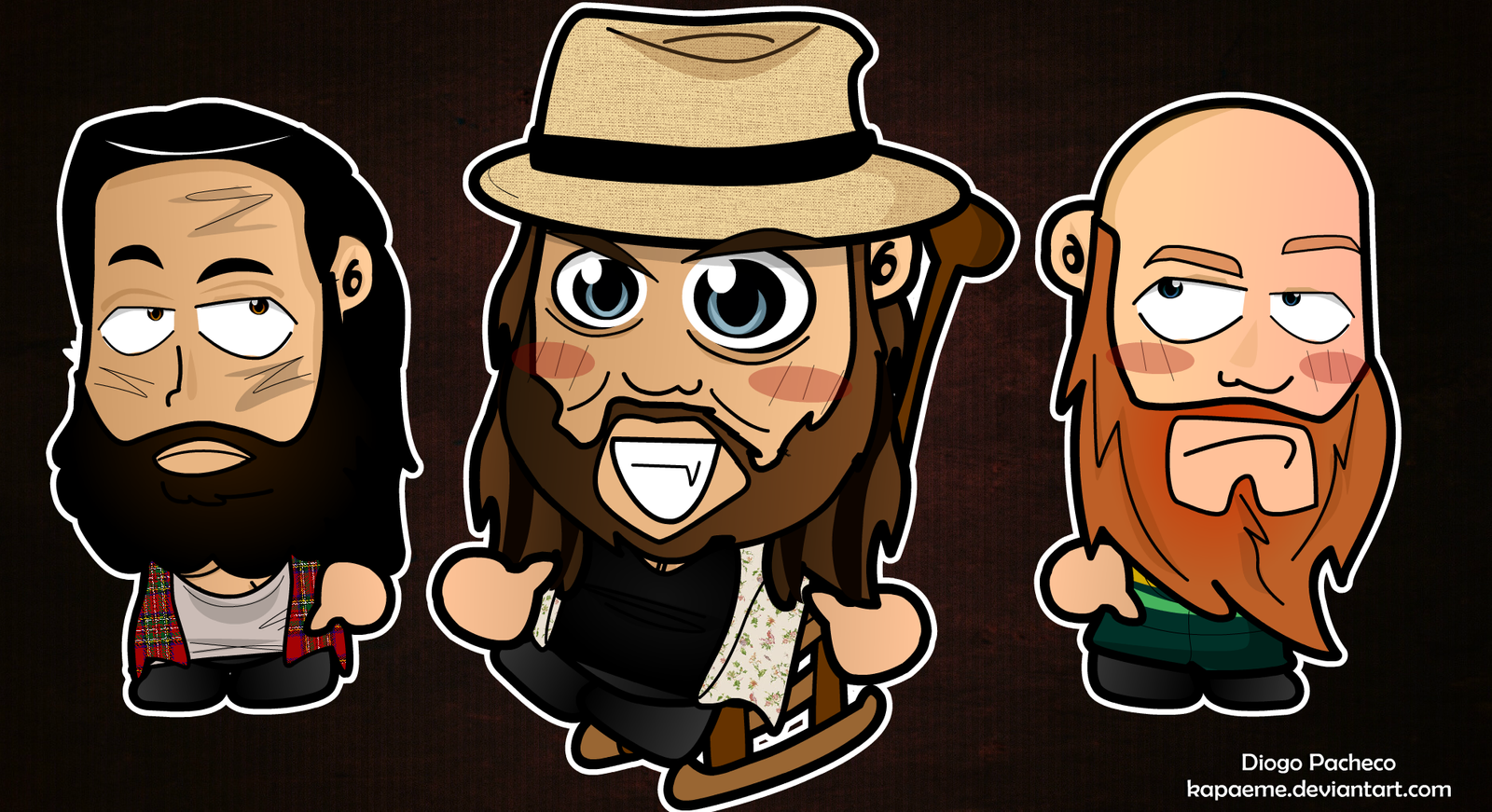 Bray Wyatt and Family INC - WWE Chibi Wallpaper by kapaeme