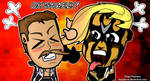 Goldust and Cody Rhodes - WWE Chibi Wallpaper