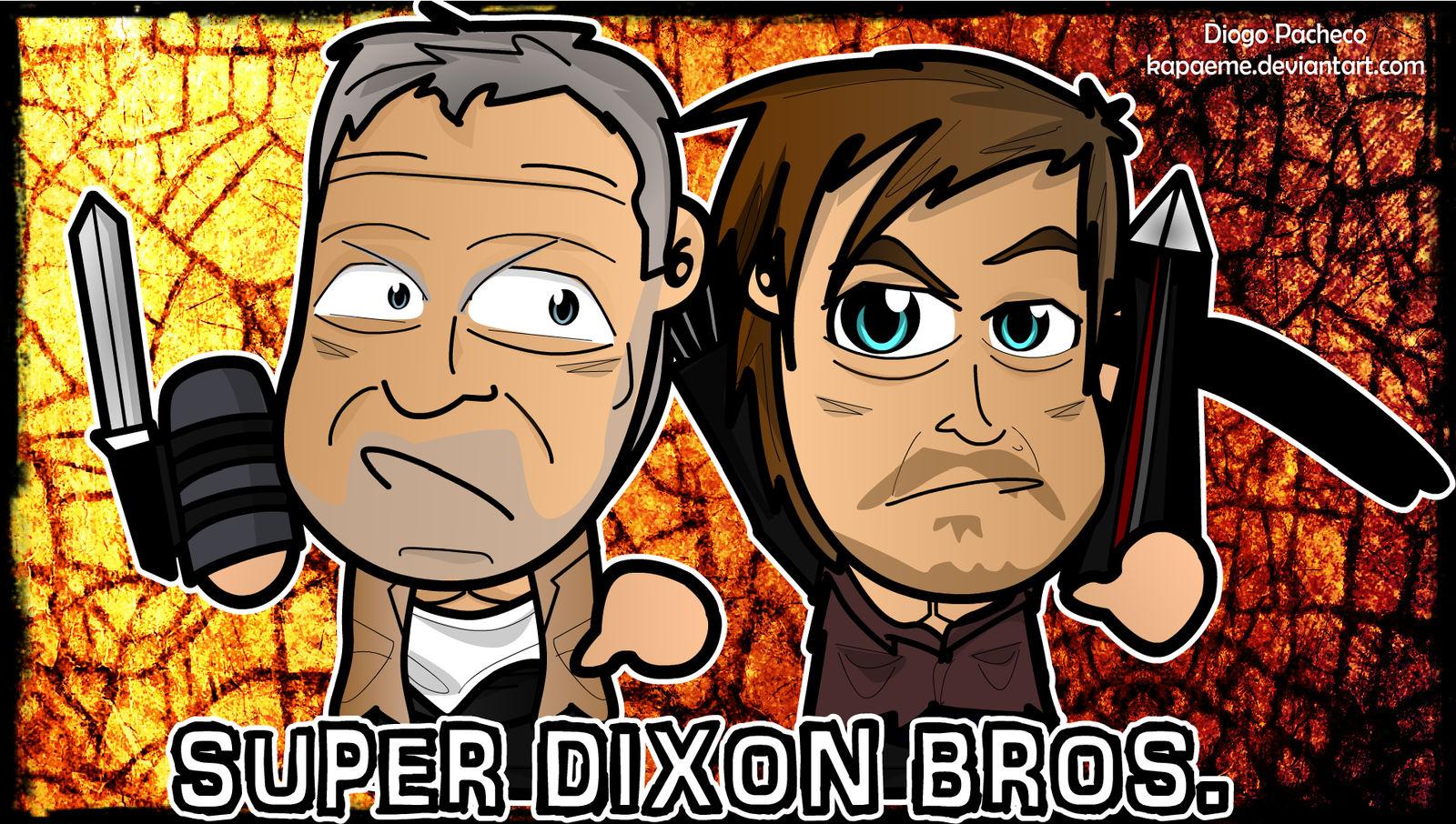 Super Dixon Bros The Walking Dead Wallpaper By Kapaeme On