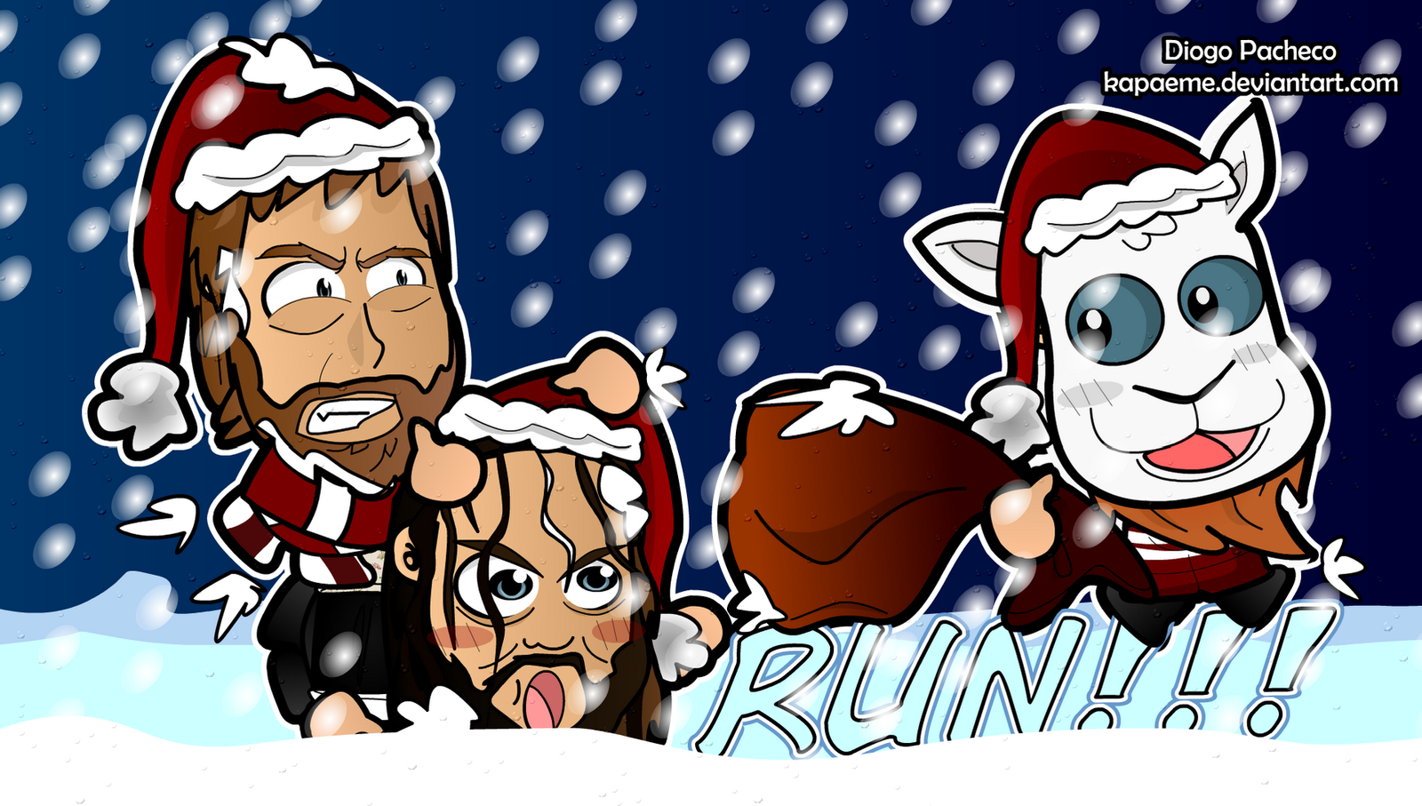 a wyatt and bryan wwe christmas wallpaperkapaeme on deviantart