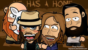 Wyatt Family and Daniel Bryan - WWE Chibi Wallpape by kapaeme