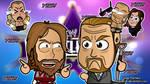 Daniel Bryan x Triple H - WM30 Chibi Wallpaper