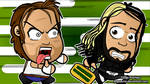 Dean Ambrose x Seth Rollins - WWE Chibi Wallpaper