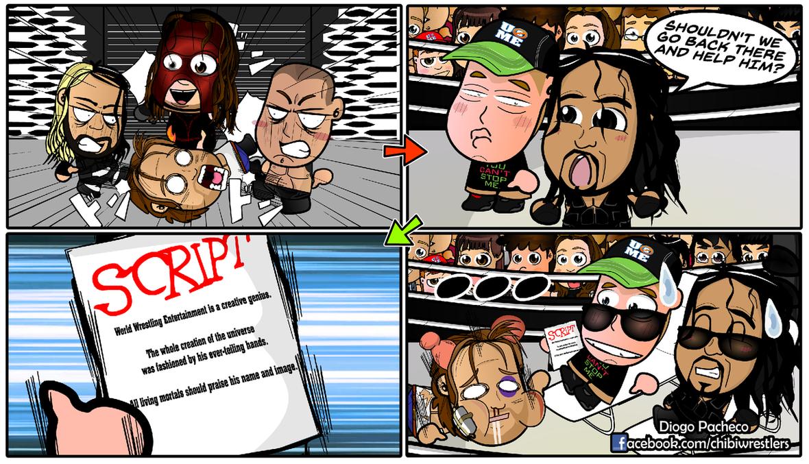 Ambrose, John Cena and Reigns - WWE Chibi Comic by kapaeme