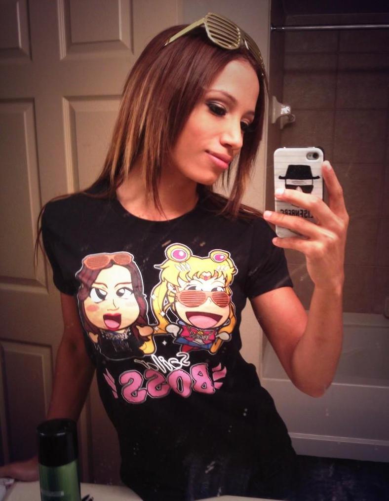 Sasha Banks - Chibi Wrestlers T-Shirt Surprise! by kapaeme