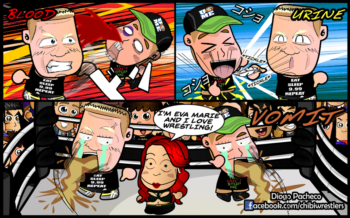 Comic strip and vomiting