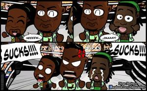 New Day - WWE Chibi Comic Wallpaper by kapaeme