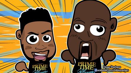Prime Time Players - WWE Chibi Wallpaper