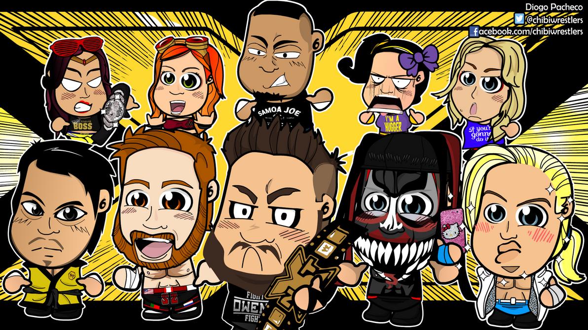 NXT Chibi Wrestlers Wallpaper By Kapaeme