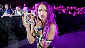Sasha Banks with Chibi in Rotterdam