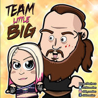 Alexa Bliss and Braun Strowman Chibi